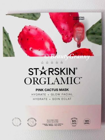 Starskin Orglamic Pink Cactus Glass Mask