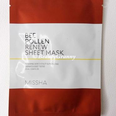 MISSHA Bee Pollen Renew Sheet Mask отзыв