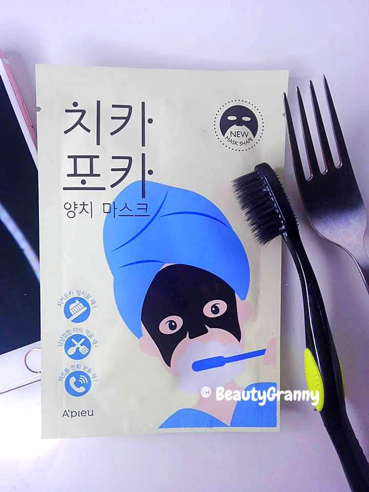A'PIEU Chikapoka Tooth Brush Mask Pack о