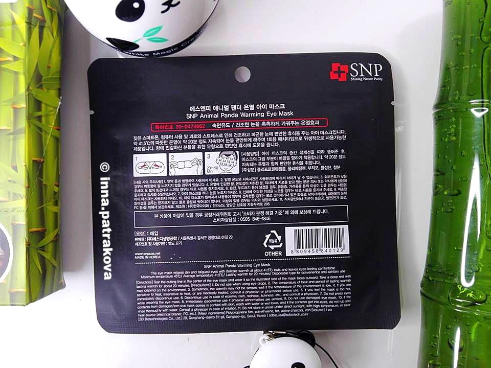 SNP Animal Warming Panda Eye Mask